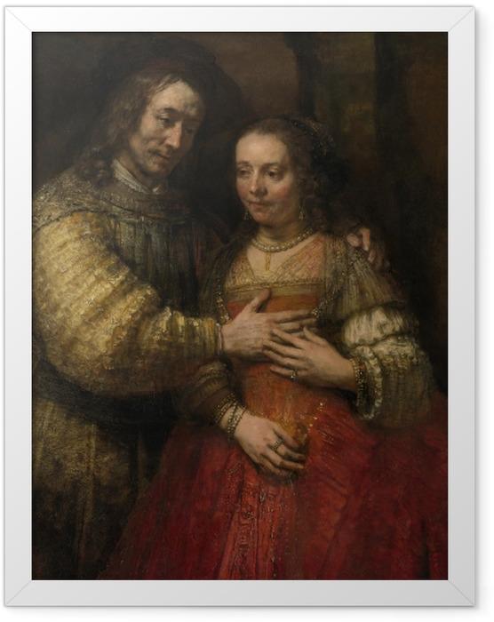 Gerahmtes Poster Rembrandt - Die Judenbraut - Reproduktion