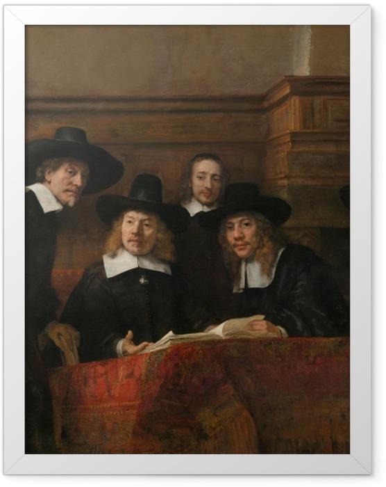 Plakat w ramie Rembrandt - Syndycy cechu sukienników - Reprodukcje