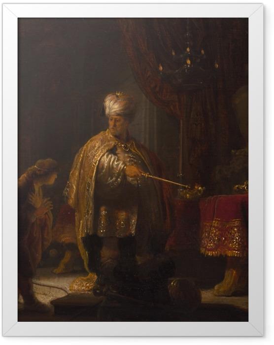 Poster en cadre Rembrandt - Daniel et Cyrus devant l'idole - Reproductions