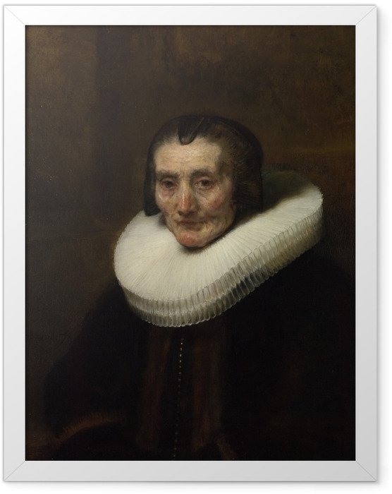 Plakat w ramie Rembrandt - Portret Margarethy de Geer - Reprodukcje