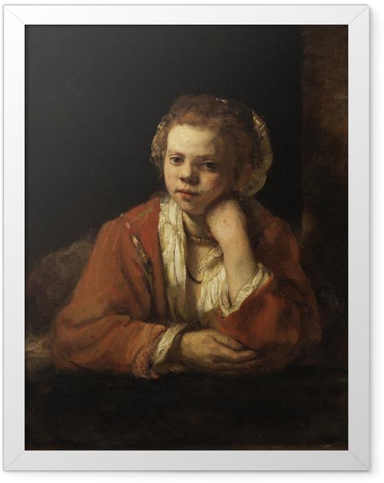Plakat w ramie Rembrandt - Portret dziewczyny w oknie - Reprodukcje