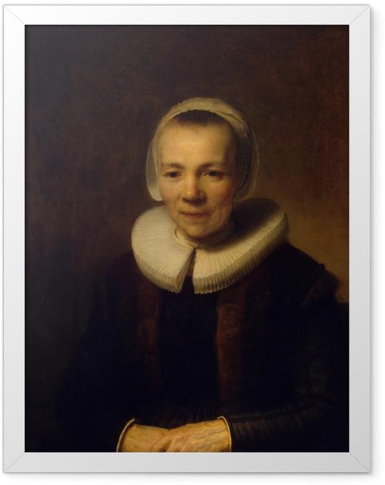 Gerahmtes Poster Rembrandt - Porträt der Baertje Martens - Reproduktion