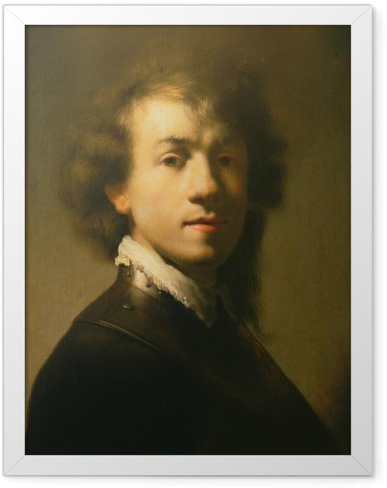 Gerahmtes Poster Rembrandt - Selbstbildnis mit Halsberge - Reproduktion