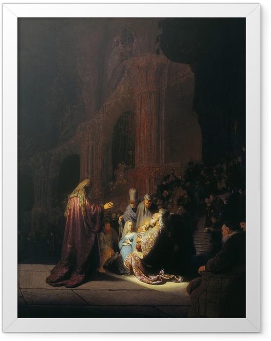 Poster en cadre Rembrandt - Siméon dans le Temple - Reproductions