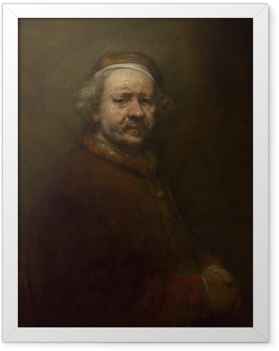 Plakat w ramie Rembrandt - Autoportret w wieku 63 lat - Reprodukcje