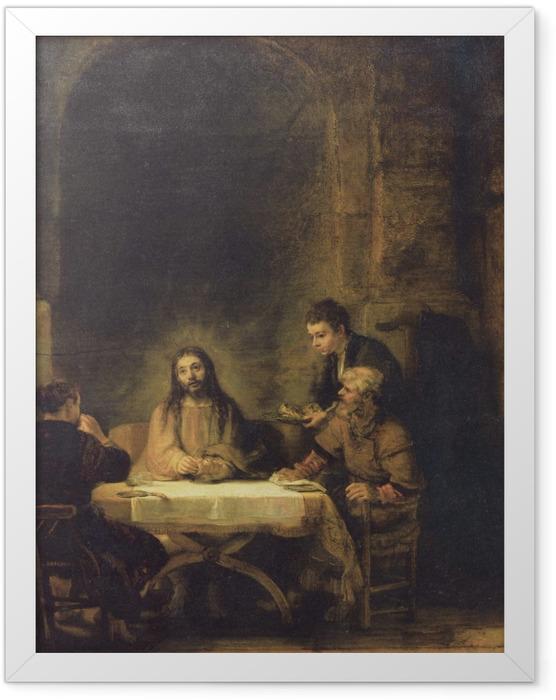 Plakat w ramie Rembrandt - Wieczerza w Emaus - Reprodukcje