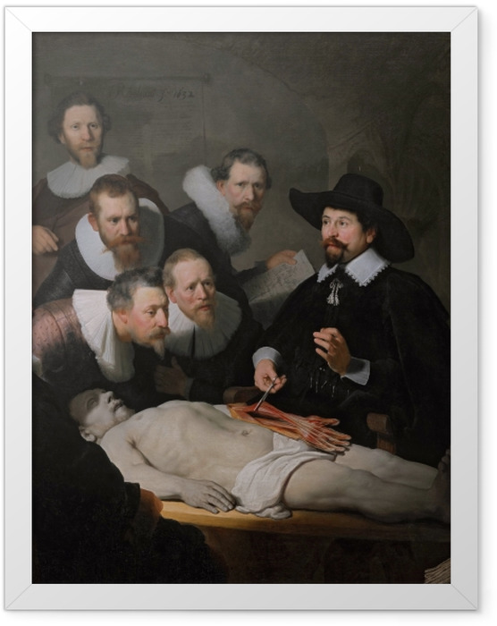 Plakat w ramie Rembrandt - Lekcja anatomii doktora Tulpa - Reprodukcje