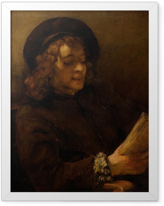 Poster en cadre Rembrandt - Titus en train de lire - Reproductions