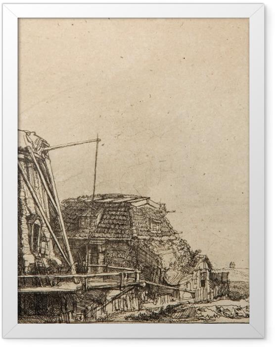 Gerahmtes Poster Rembrandt - Die Mühle - Reproduktion