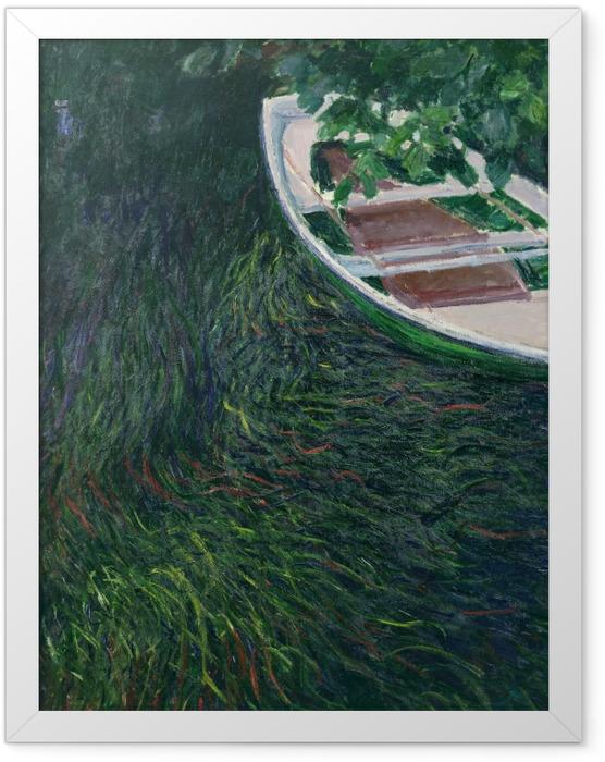 Gerahmtes Poster Claude Monet - Das Boot - Reproduktion
