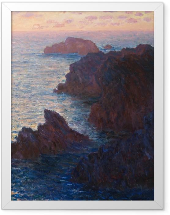 Poster en cadre Claude Monet - Port-Domois à Belle-Ile - Reproductions
