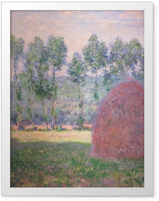 Plakat w ramie Claude Monet - Stogi siana w Giverny - Reprodukcje