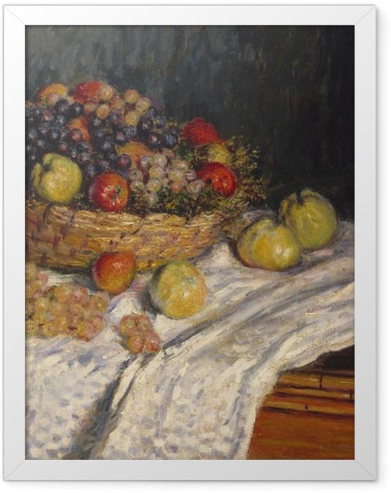 Gerahmtes Poster Claude Monet - Trauben und Äpfel - Reproduktion