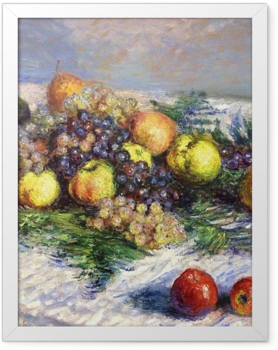 Gerahmtes Poster Claude Monet - Birnen und Trauben - Reproduktion