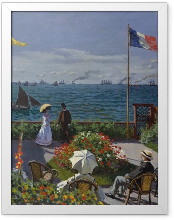 Gerahmtes Poster Claude Monet - Die Terrasse von Sainte-Adresse - Reproduktion