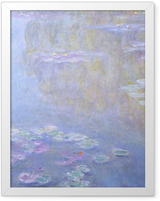 Poster en cadre Claude Monet - Nymphéas à Giverny - Reproductions