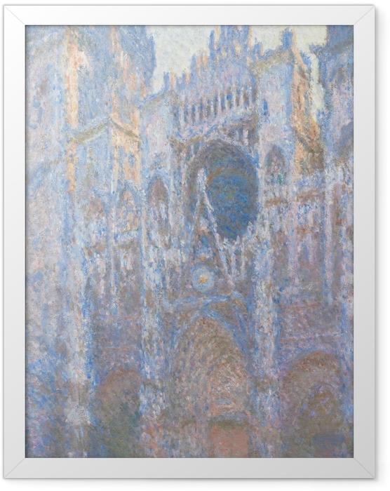 Gerahmtes Poster Claude Monet - Kathedrale von Rouen - Reproduktion
