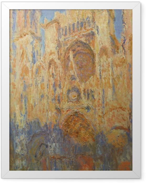 Poster en cadre Claude Monet - La Cathédrale de Rouen, façade, soleil couchant - Reproductions