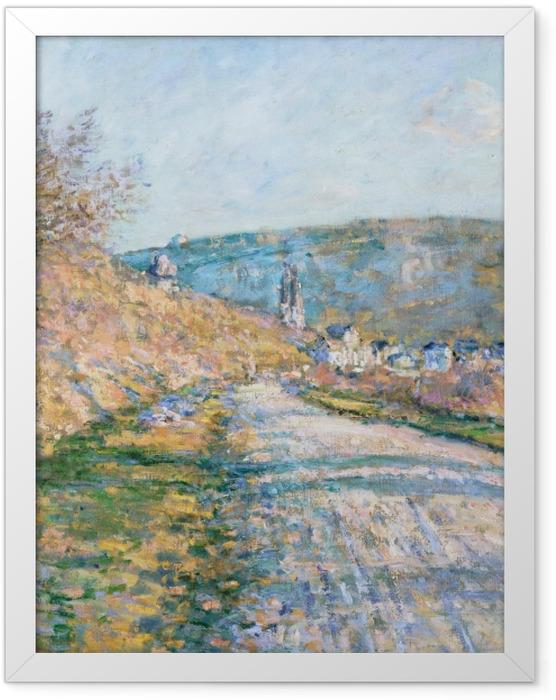 Gerahmtes Poster Claude Monet - Der Weg nach Vétheuil - Reproduktion