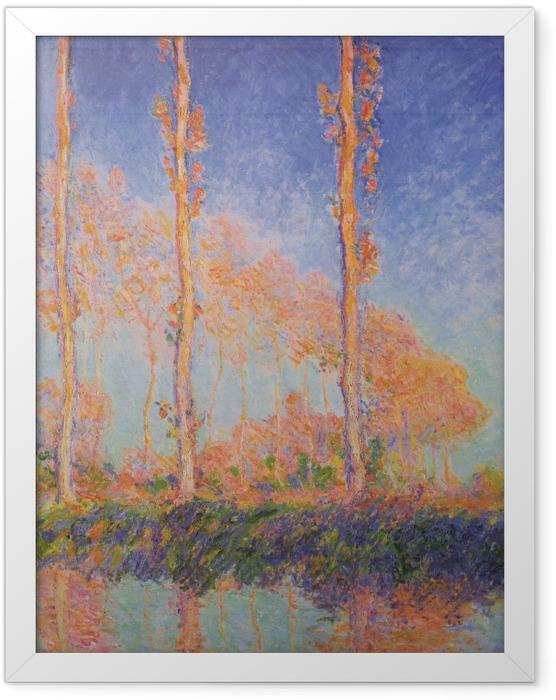 Gerahmtes Poster Claude Monet - Pappeln - Reproduktion