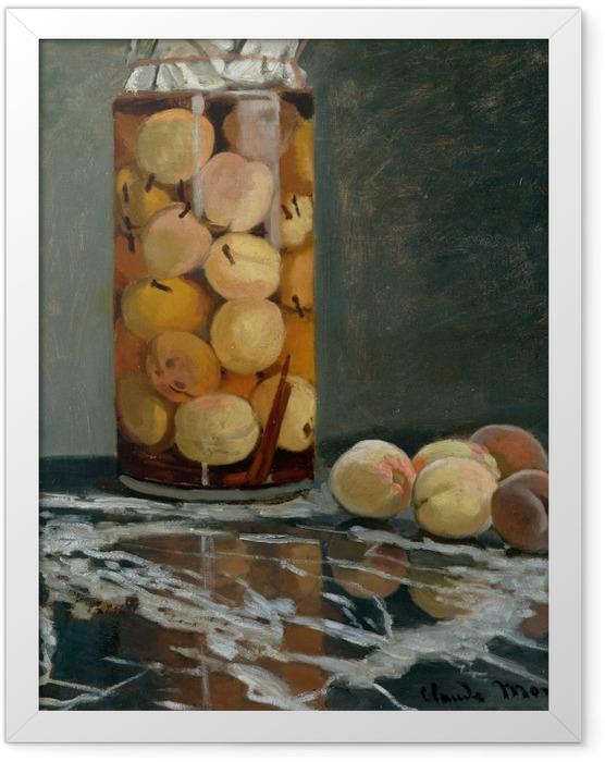 Plakat w ramie Claude Monet - Słój z brzoskwiniami - Reprodukcje