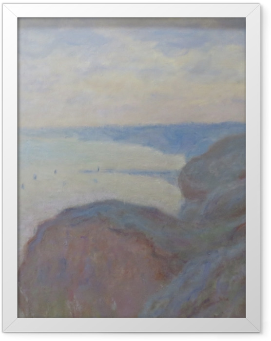 Plakat w ramie Claude Monet - Klif nieopodal Dieppe - Reprodukcje