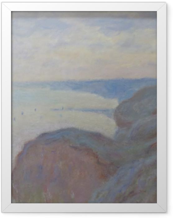Poster en cadre Claude Monet - Falaises près de Dieppe - Reproductions