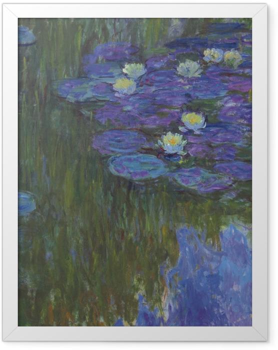 Gerahmtes Poster Claude Monet - Seerosen - Reproduktion