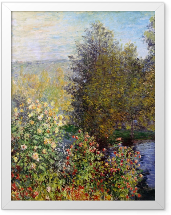 Plakat w ramie Claude Monet - Fragment ogrodu w Montgeron - Reprodukcje