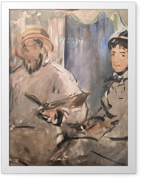 Plakat w ramie Édouard Manet - Monet w swym pływającym studio - Reproductions