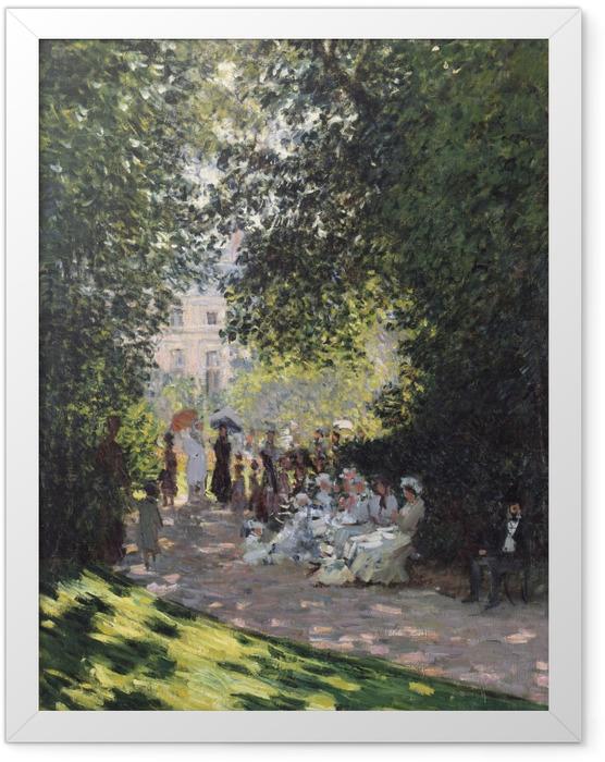 Gerahmtes Poster Claude Monet - Der Parc Monceau - Reproduktion