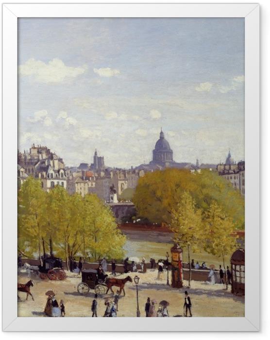 Poster en cadre Claude Monet - Quai du Louvre - Reproductions