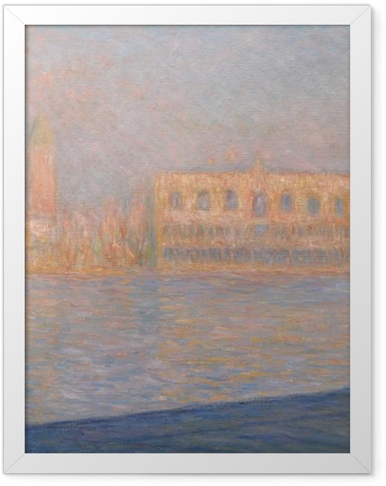 Plakat w ramie Claude Monet - Widok na pałac Dożów z San Giorgio Maggiore - Reprodukcje
