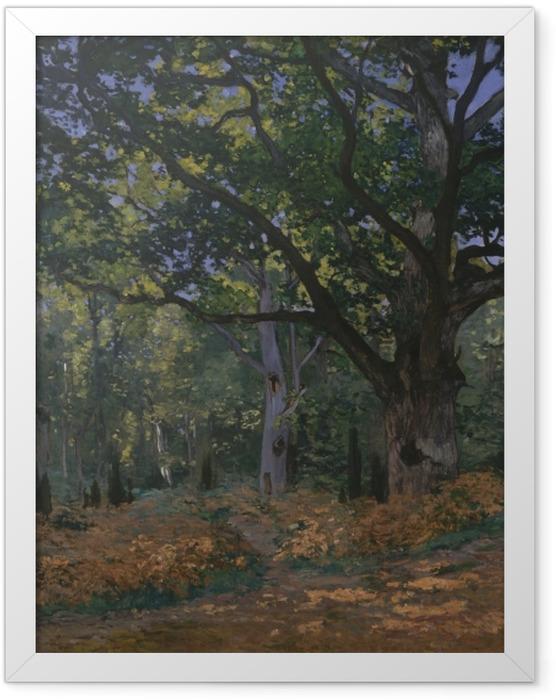Plakat w ramie Claude Monet - Dąb w okolicach Bas-Bréau - Reprodukcje
