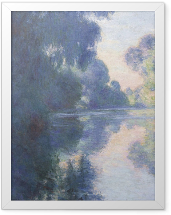 Plakat w ramie Claude Monet - Poranek nad Sekwaną - Reprodukcje