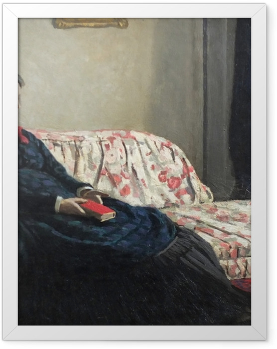 Poster en cadre Claude Monet - Méditation. Madame Monet au canapé - Reproductions