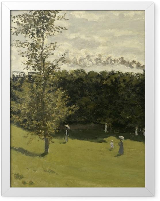 Gerahmtes Poster Claude Monet - Eisenbahn in offener Landschaft - Reproduktion