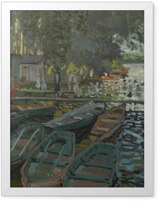 Poster en cadre Claude Monet - Baigneurs à la Grenouillère - Reproductions