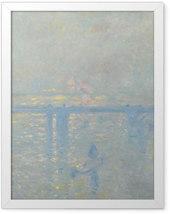 Plakat w ramie Claude Monet - Tamiza przy Charing Cross - Reprodukcje