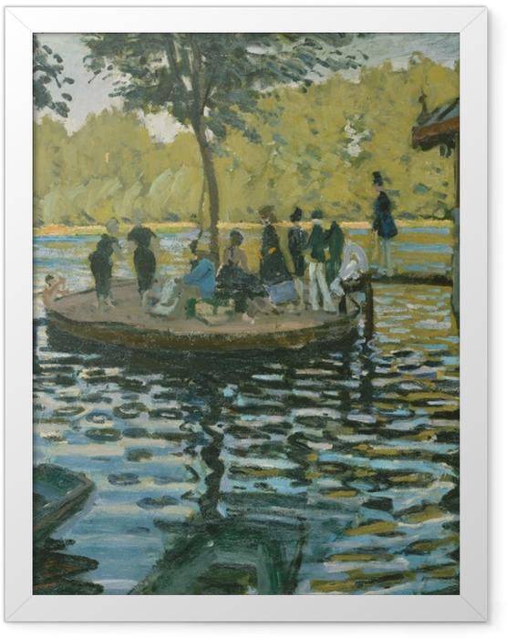 Gerahmtes Poster Claude Monet - La Grenouillère (Der Froschteich) - Reproduktion