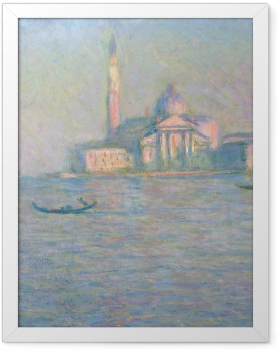 Poster en cadre Claude Monet - Saint-Georges-Majeur au crépuscule - Reproductions