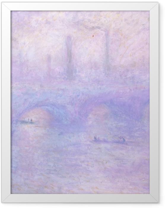 Gerahmtes Poster Claude Monet - Waterloo Bridge im Nebel - Reproduktion