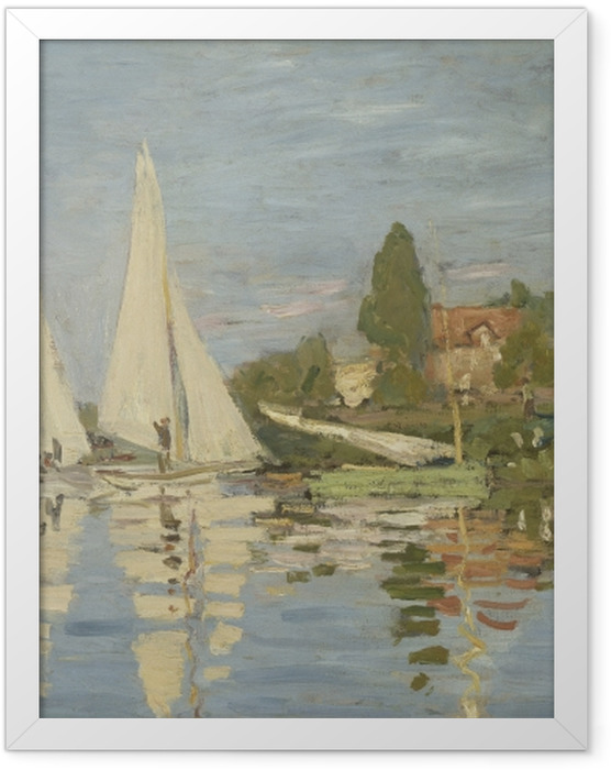 Poster en cadre Claude Monet - Régates à Argenteuil - Reproductions