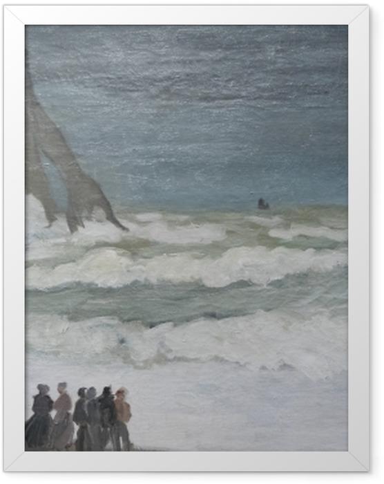 Plakat w ramie Claude Monet - Niespokojne morze w okolicach Etreat - Reprodukcje
