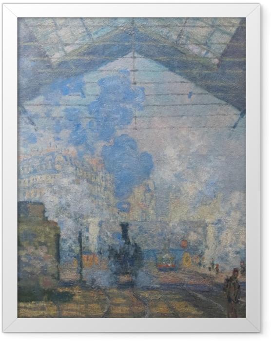Plakat w ramie Claude Monet - Dworzec St. Lazare - Reprodukcje