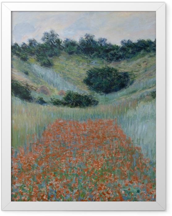 Plakat w ramie Claude Monet - Pole maków niedaleko Giverny - Reprodukcje
