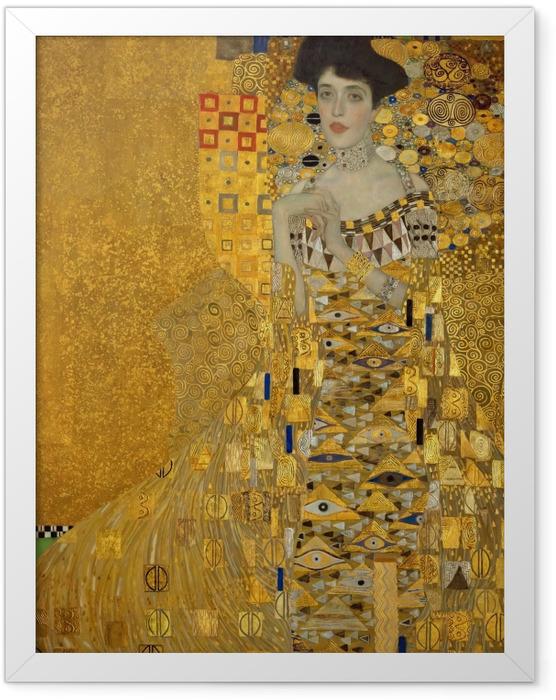 Gerahmtes Poster Gustav Klimt - Adele Bloch-Bauer I - Reproduktion