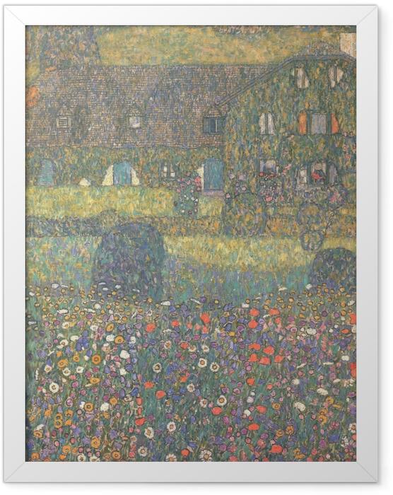 Gerahmtes Poster Gustav Klimt - Landhaus am Attersee - Reproduktion