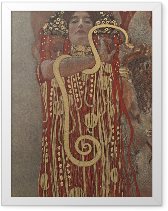 Plakat w ramie Gustav Klimt - Higiea - Reprodukcje