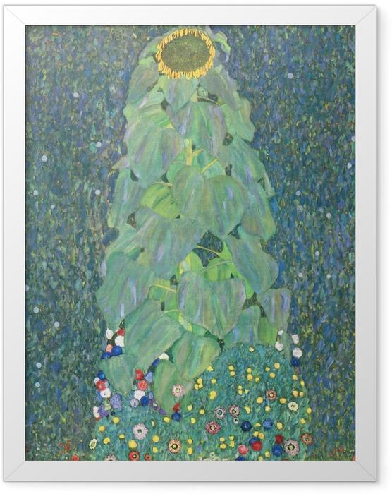 Poster en cadre Gustav Klimt - Le Tournesol - Reproductions
